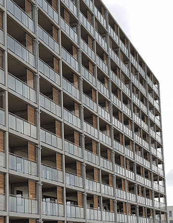 132 skydelameller til etageejendom